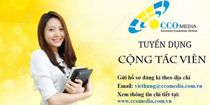 Tuyển Cộng Tác Viên Kinh Doanh – Marketing Online