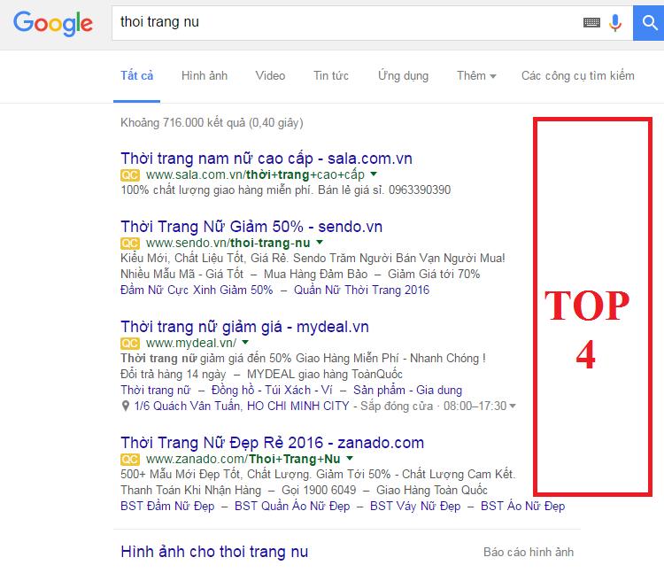 Quảng cáo Google giá rẻ