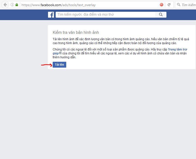 hướng dẫn kiểm tra hình ảnh khi chạy quảng cáo facebook