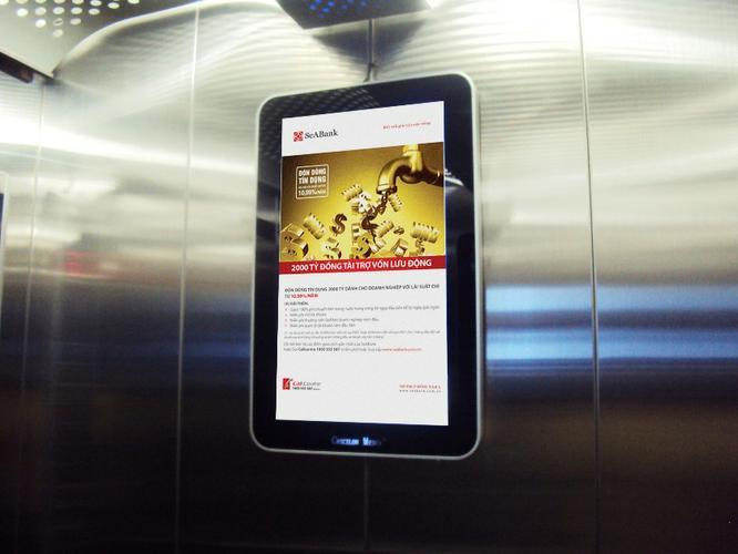 quảng cáo màn hình lcd trong thang máy